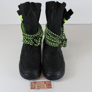 Nike SF Air Force 1 HI SZ 10 Black Volt AA1128-003